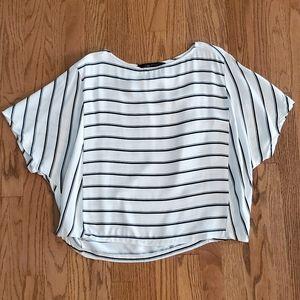 Zara cropped blouse EUC